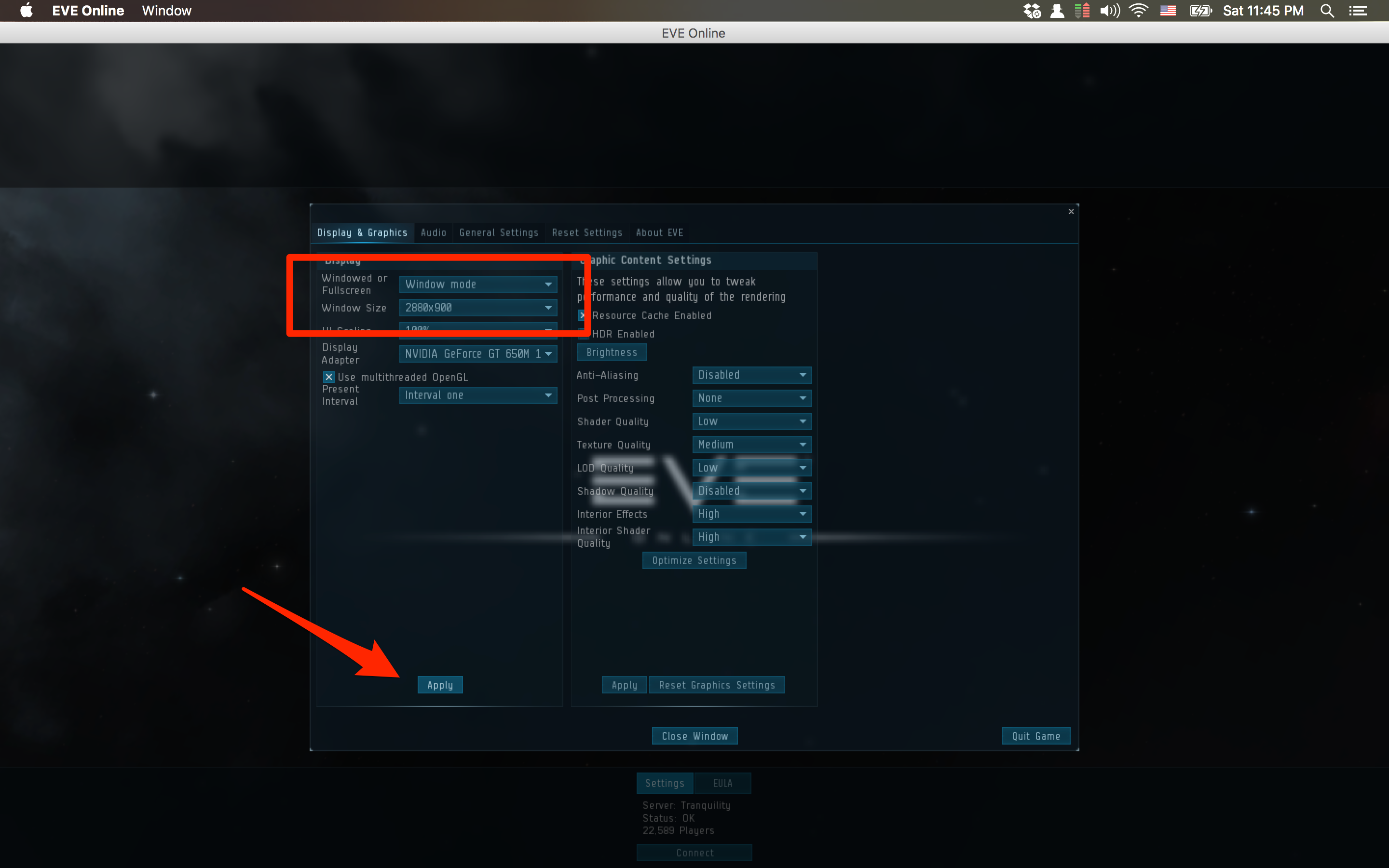 "Eve Online - Dual monitor window on OS X"" class=""img-fluid"